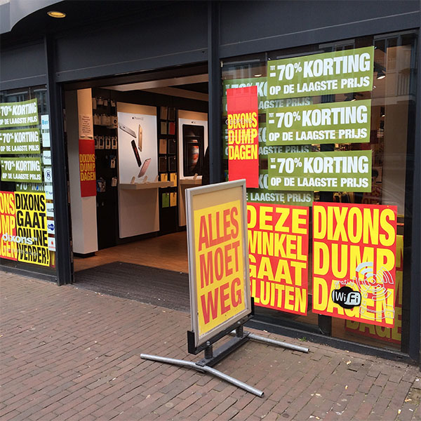 dixons final days kinkerstraat amsterdam shopfront